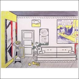 Roy Lichtenstein 1973 - ARTIST'S STUDIO NO.1 (LOOK MICKEY) - Graphite, colored pencils and collage on paper (50 x 61 cm)
