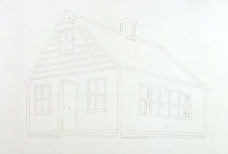 Roy Lichtenstein 1997 - DRAWING FOR HOUSE III a - Graphite on tracing paper (59 x 95 cm)